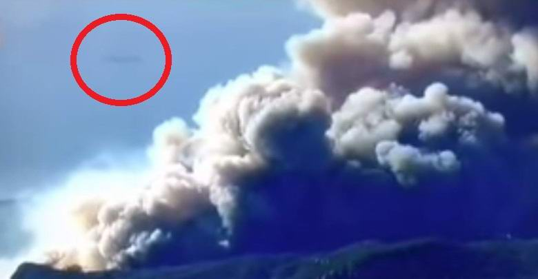 A large UFO hit the video during California fires