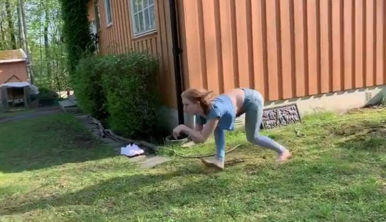 A young Norwegian woman who dreams of becoming a horse runs easily on all fours