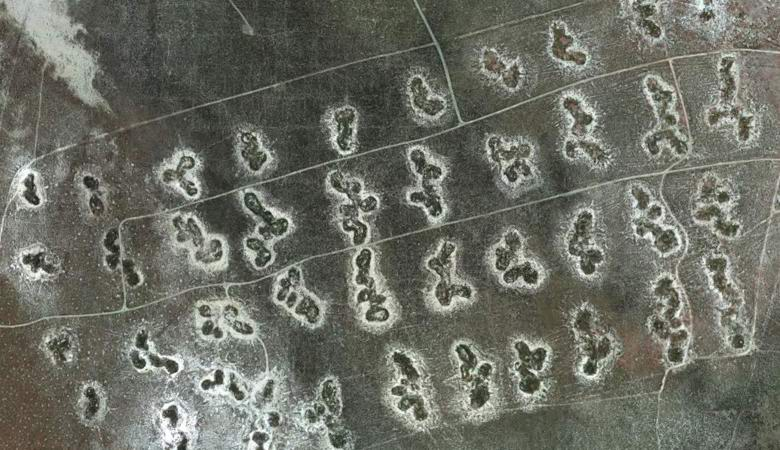 Utah's enormous cryptic letters found on Utah satellite imagery