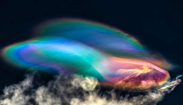 Incredible rainbow clouds appeared over Peru
