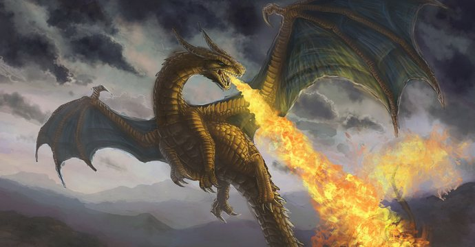 Fire-breathing dragons once lived on Earth