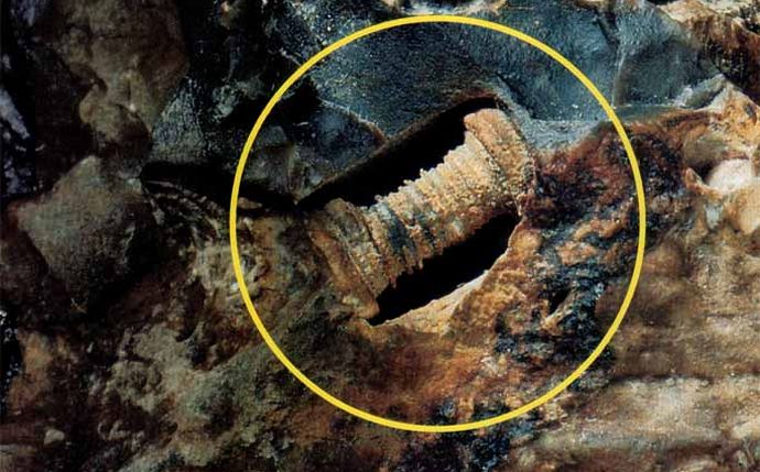 The oldest artifact is a 280 million year old bolt.