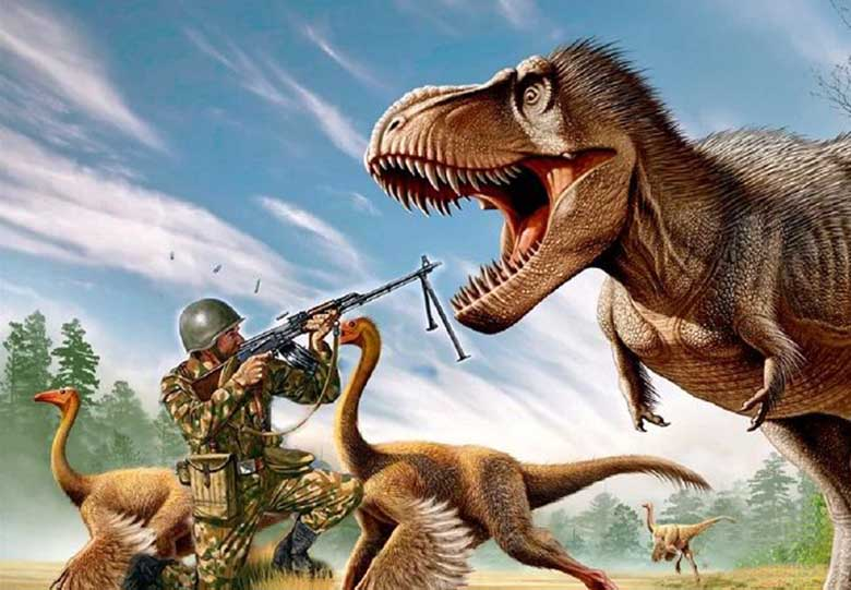 Did Soviet soldiers see dinosaurs in Mongolia?