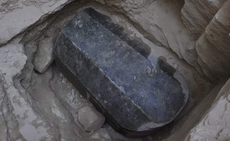 Scientists uncovered a mysterious black sarcophagus in Egypt