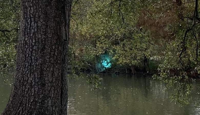 A mysterious glow captured in New Orleans Park